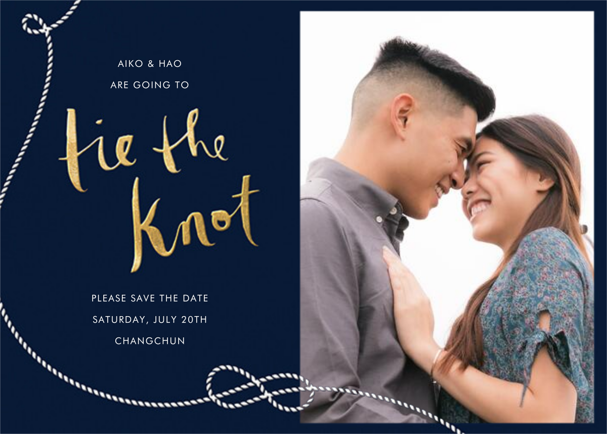 Nautical II (Photo Save the Date) - Navy - kate spade new york - Photo