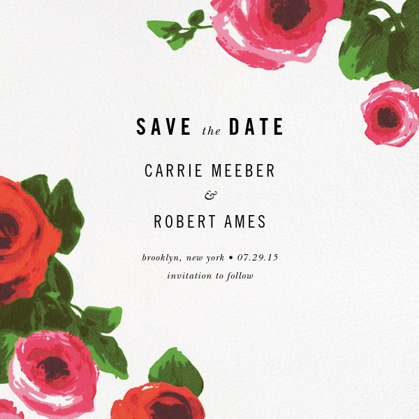Rose Bed (Save the Date) - kate spade new york - Save the date