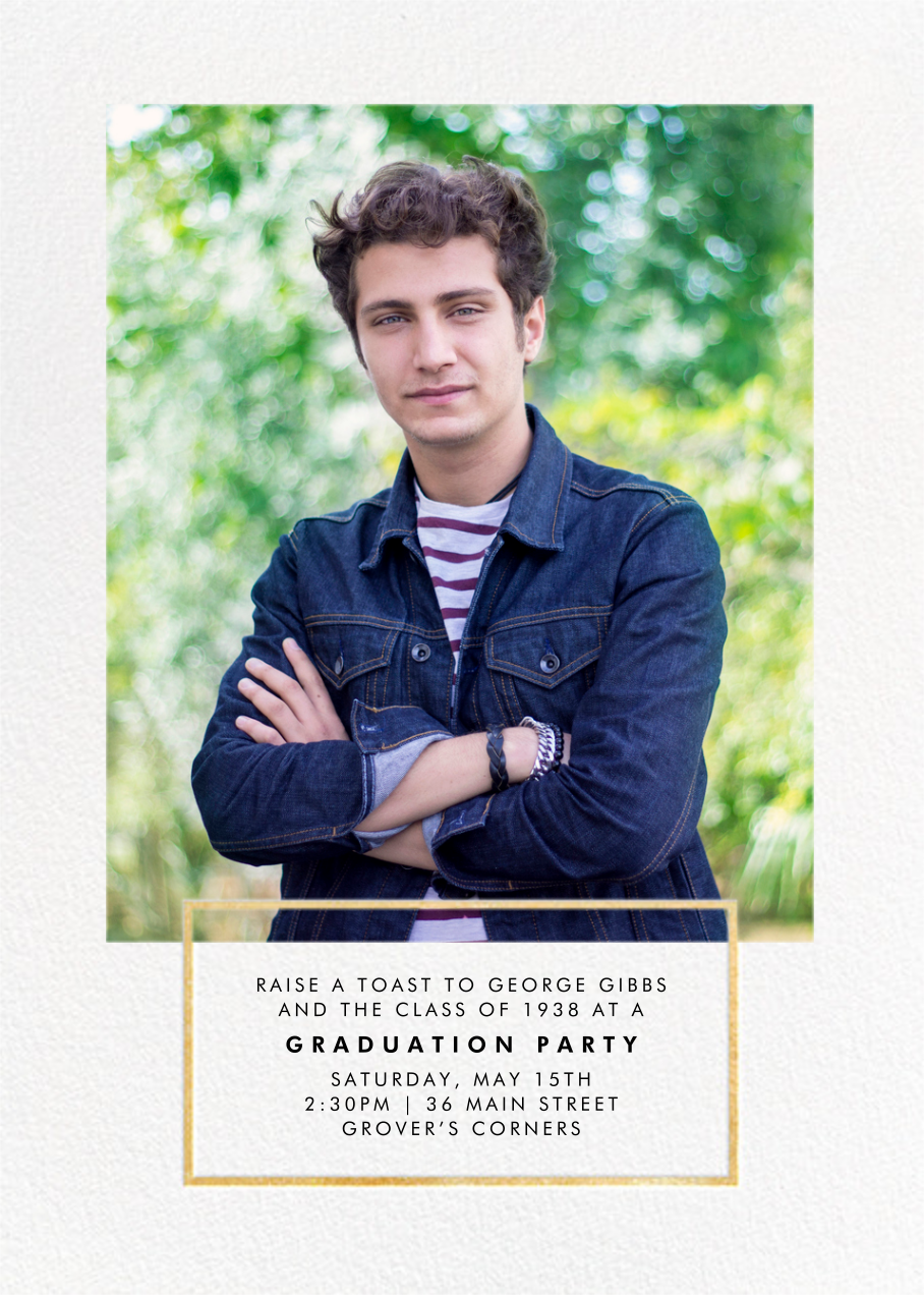 Placard - Gold - Paperless Post - Graduation party