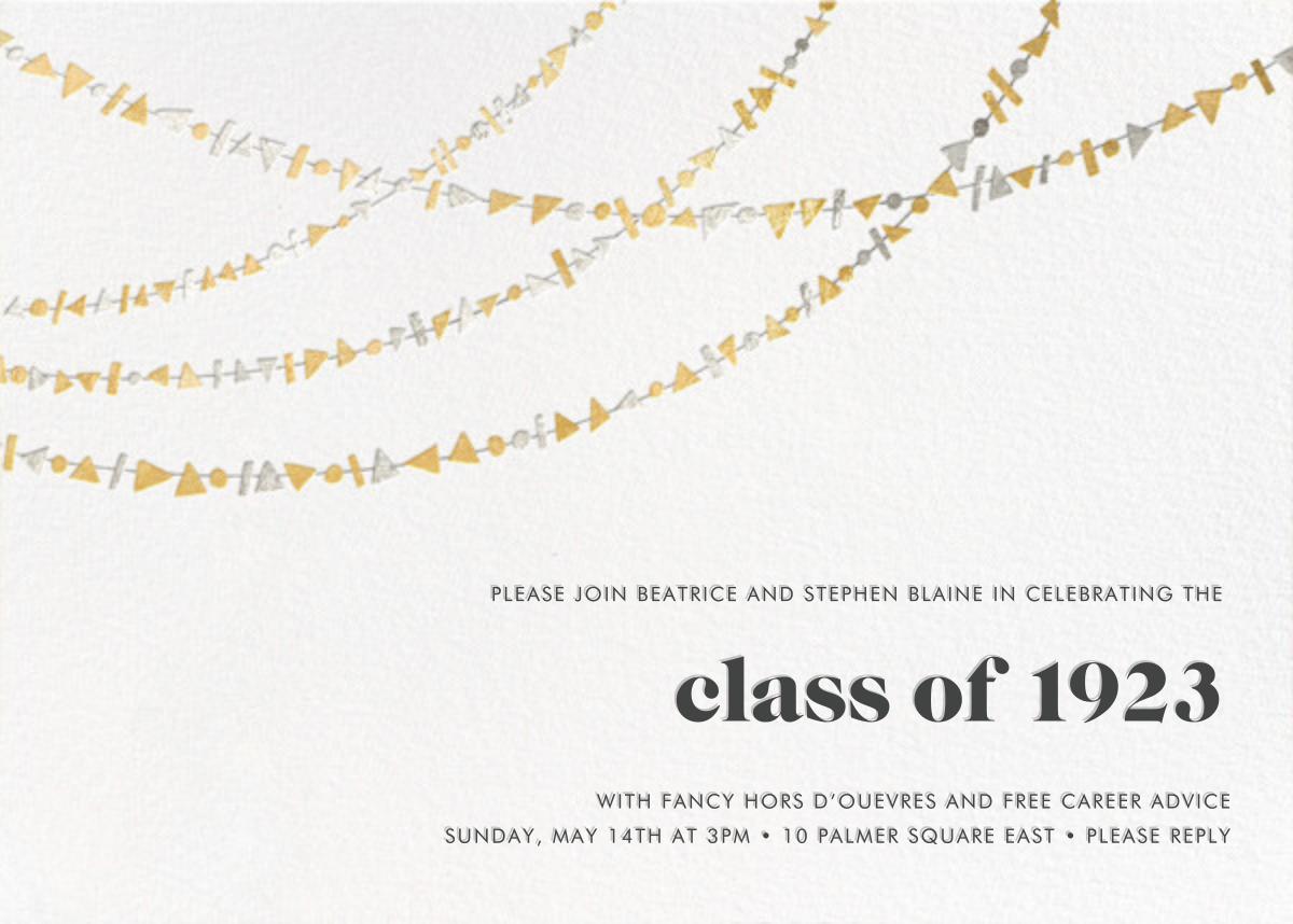 Streamer Shapes - Metallic - Paperless Post - Graduation party