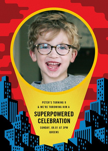 Spotlight Over Gotham (Photo) - Paperless Post - Kids' birthday