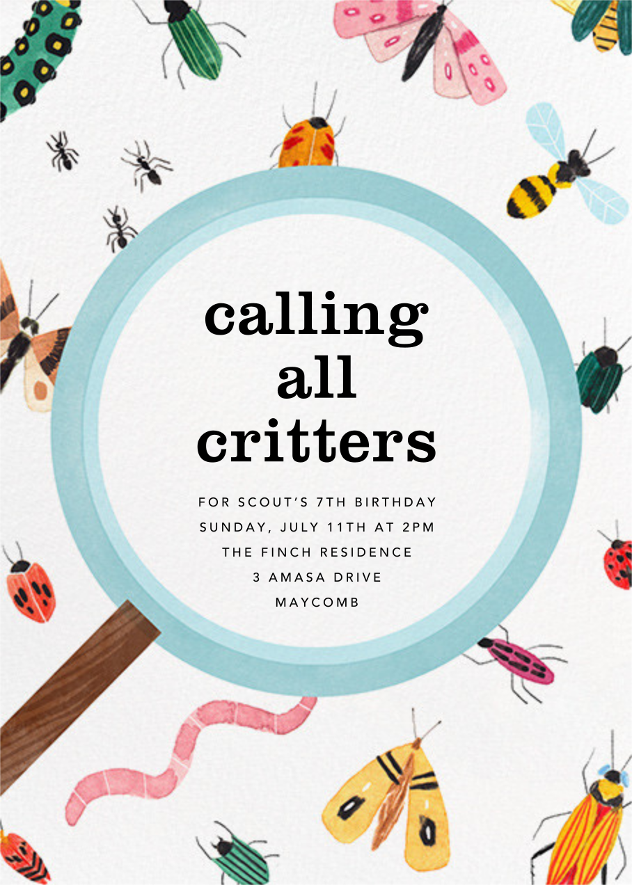 Insect Inspector - Paperless Post - Kids' birthday