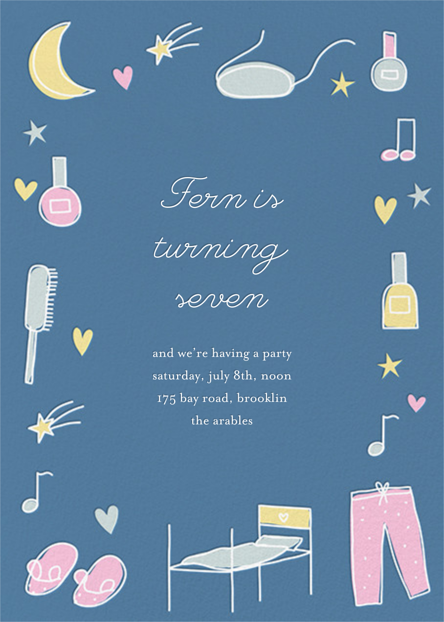 Slumber Party - Blue - Little Cube - Kids' birthday