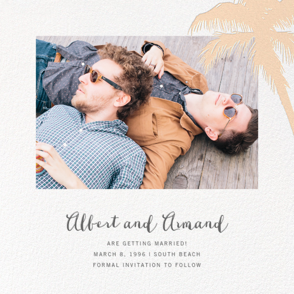 Tropical Palm (Photo Save the Date) - Bellini - Paperless Post