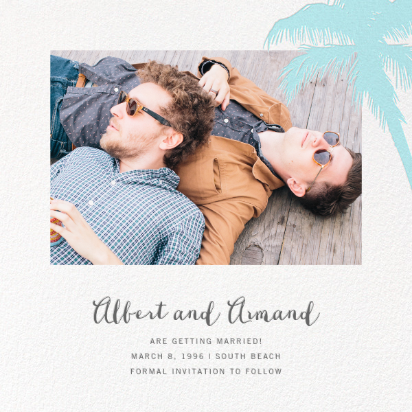 Tropical Palm (Photo Save the Date) - Caribbean - Paperless Post - Photo