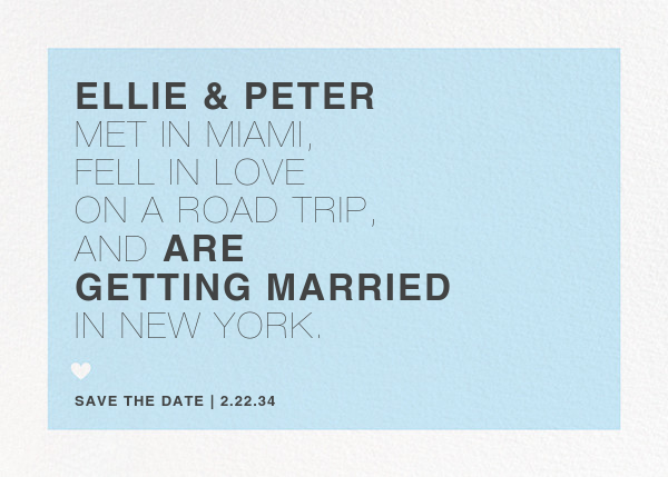 Memoir (Save the Date) - Glacier - Paperless Post - Save the date