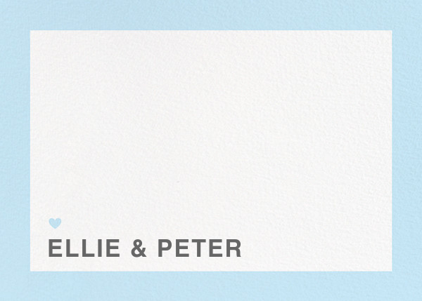 Memoir (Stationery) - Glacier - Paperless Post - Personalized stationery