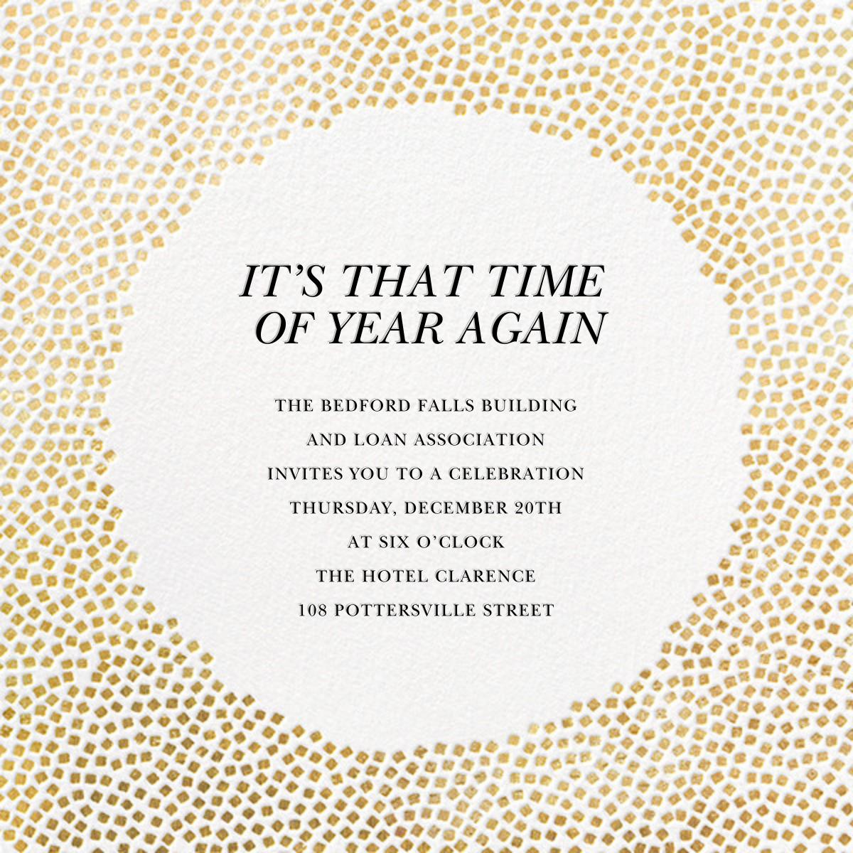 Konfetti - Gold - Kelly Wearstler - Corporate invitations