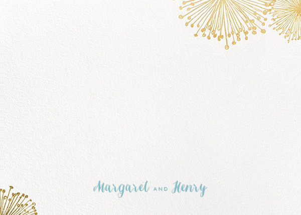 Dandelion (Stationery) - White/Gold - Paperless Post - Personalized stationery
