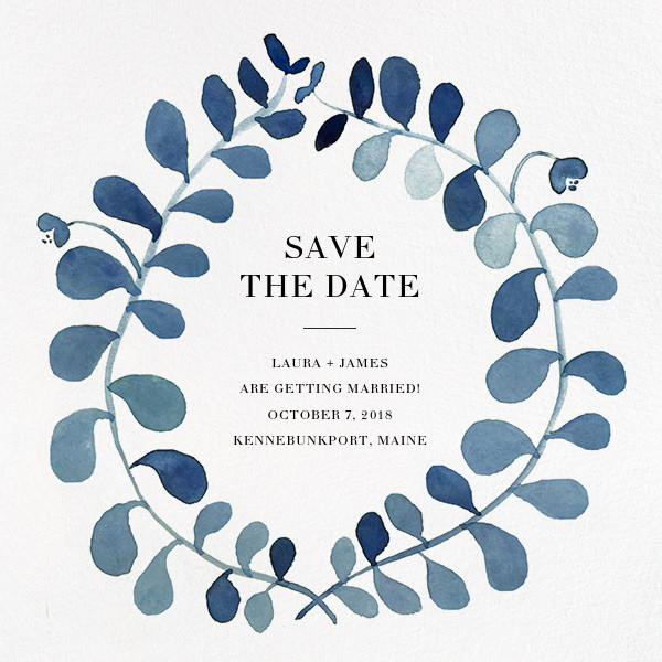 Mirabell (Save the Date) - Blue - Linda and Harriett - Party save the dates