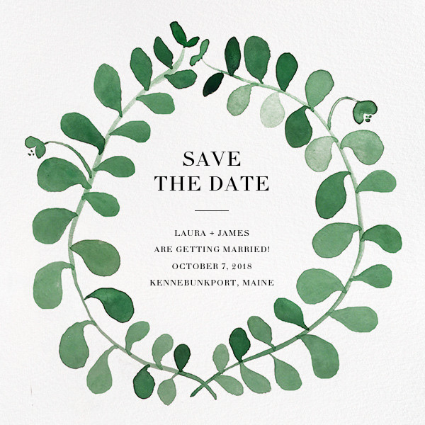 Mirabell (Save the Date) - Green - Linda and Harriett - Party save the dates