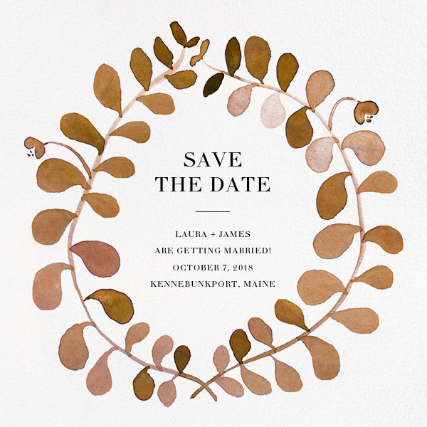 Mirabell (Save the Date) - Sepia - Linda and Harriett - Party save the dates