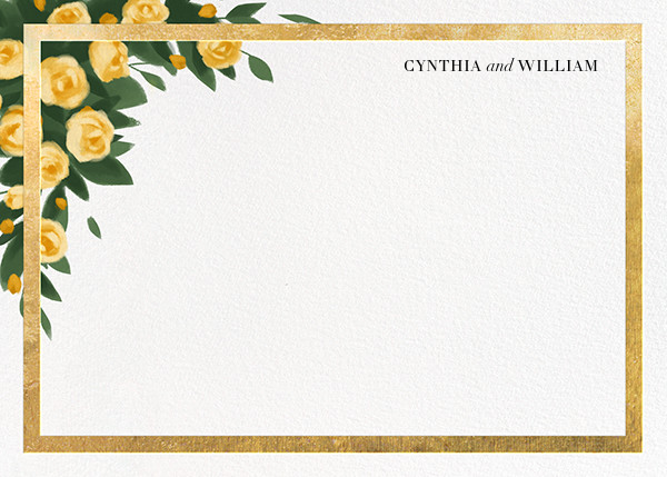 Teablossom (Stationery) - Gold/Yellow - Paperless Post - Personalized stationery