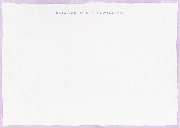 Color Wash (Stationery) - Lilac - Paperless Post - Personalized stationery