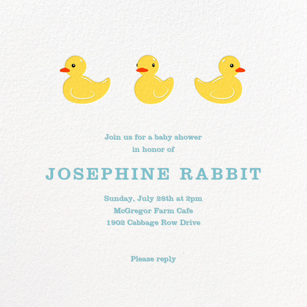 Rubber Duckies - Paperless Post - Baby shower