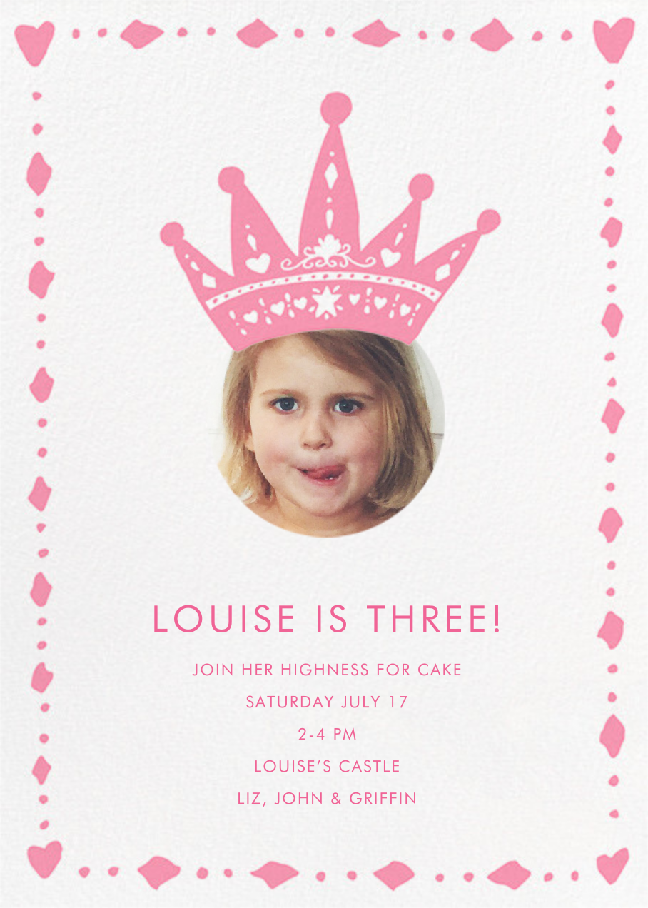 Cutout Crown (Photo) - Linda and Harriett - Kids' birthday