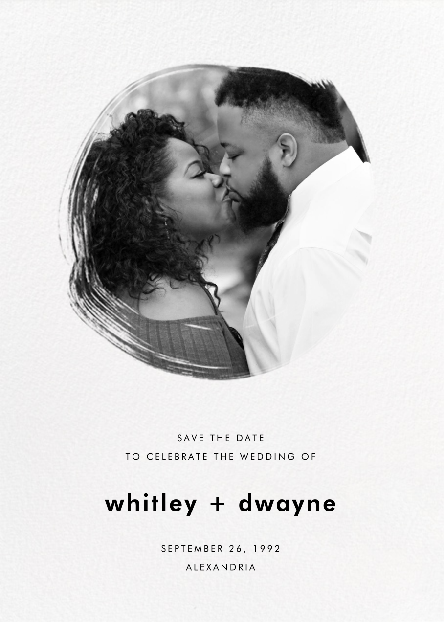 Painted Circle - Paperless Post - Save the date