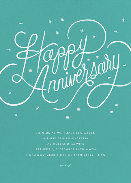 Starlit Anniversary - Green - Rifle Paper Co. - Anniversary party