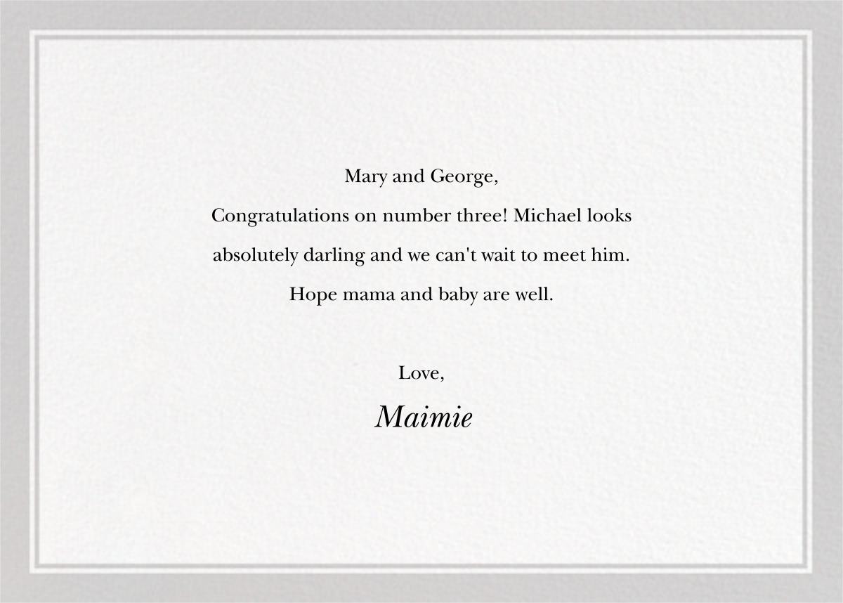 And Your Little Dog Too - The New Yorker - Congratulations - card back