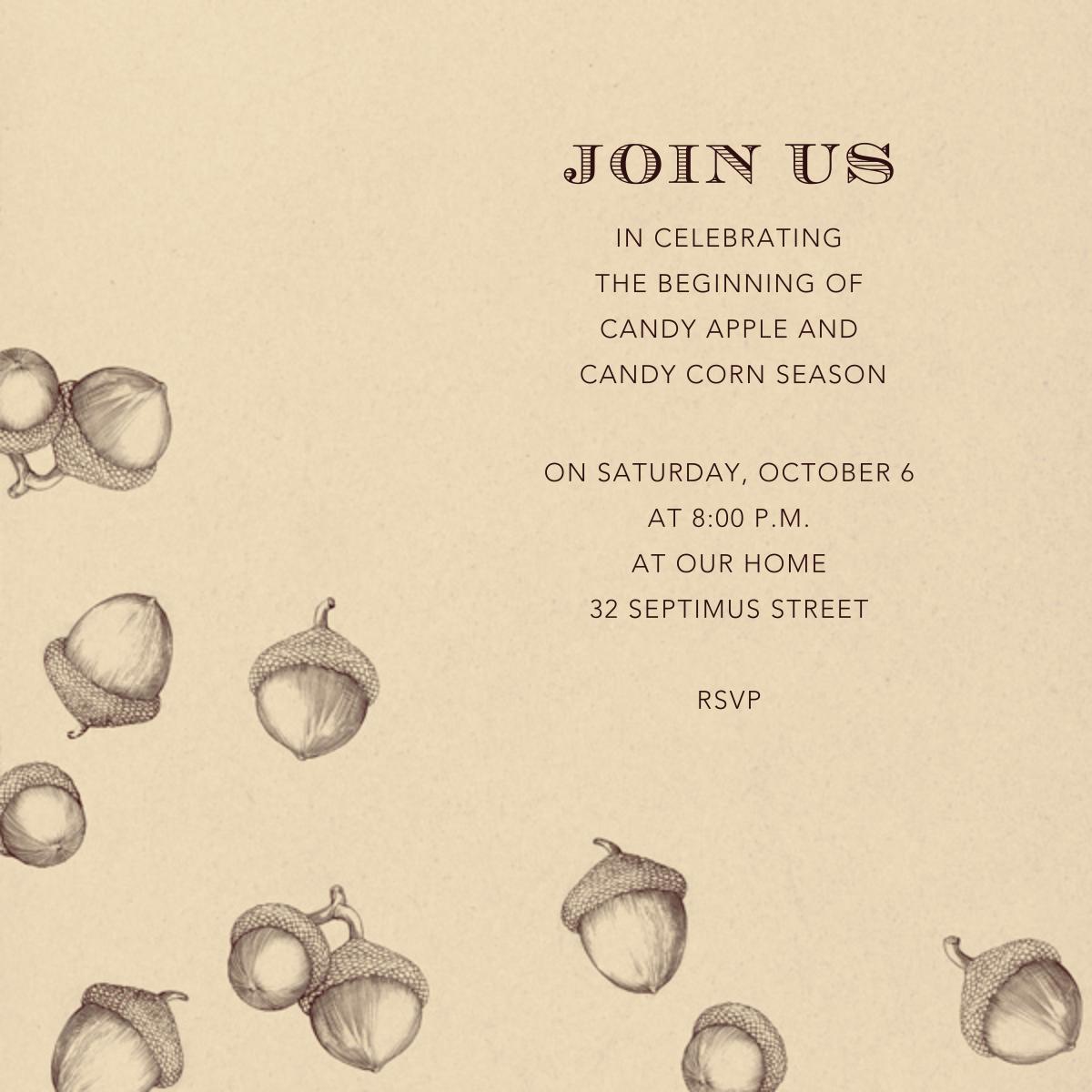 Acorns - Wheat - Paperless Post - Autumn entertaining