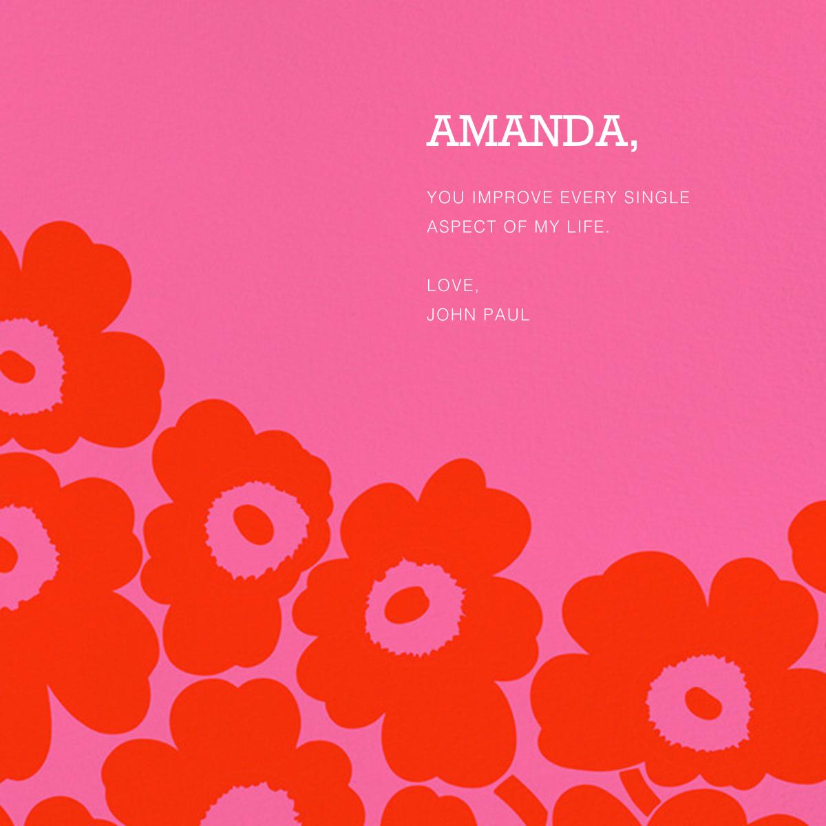 Unikko (Square) - Red/Pink - Marimekko - Valentine's Day