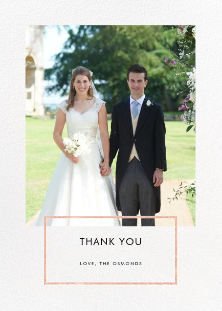 Placard - Rose Gold - Paperless Post - Wedding