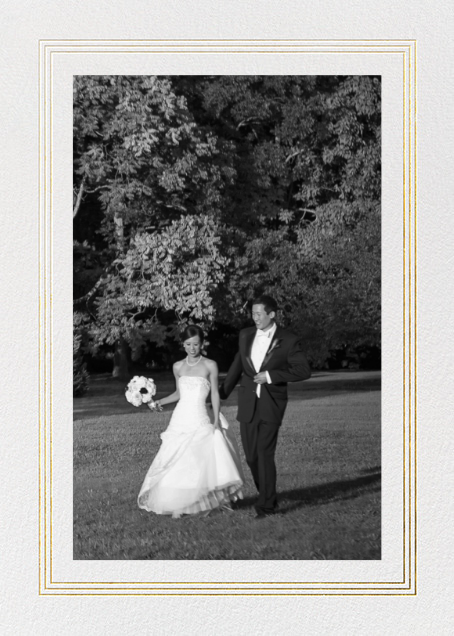 Triple Interior Border (Tall Photo) - Gold - Paperless Post - Wedding