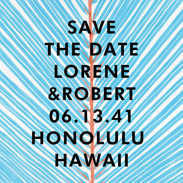 Frond - Blue - Kelly Wearstler - Party save the dates