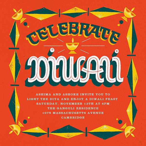 Diwali Lights (Invitation) - Paperless Post - Diwali
