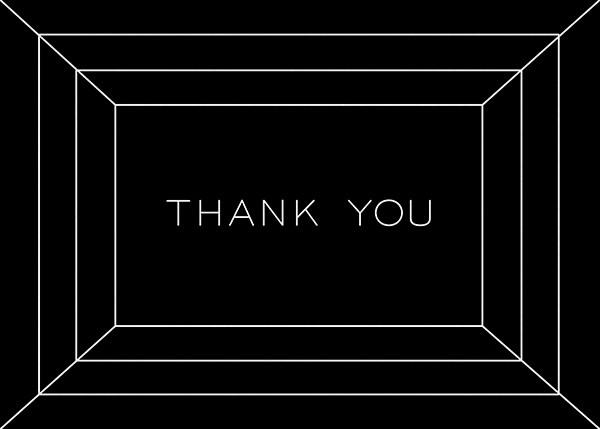 Deco Gratitude - Black/White - Paperless Post - Thank you