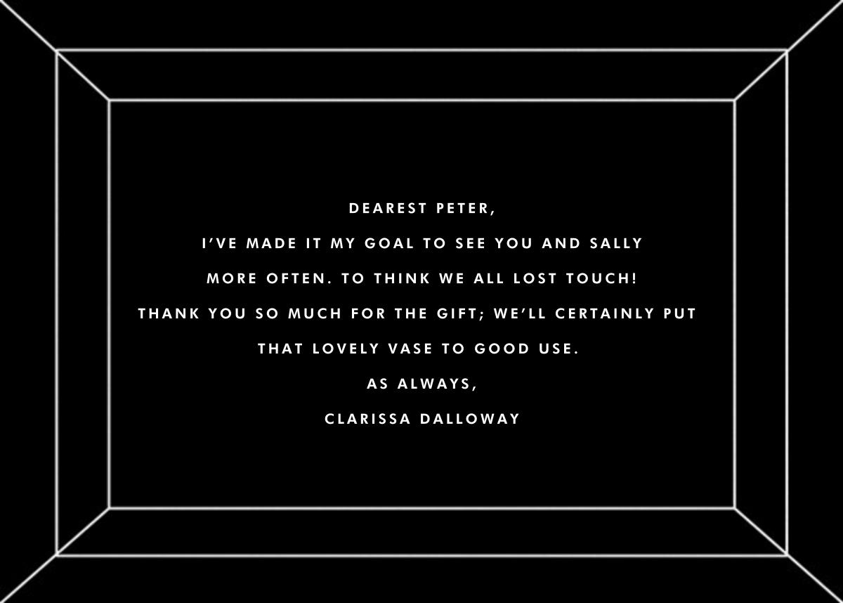 Deco Gratitude - Black/White - Paperless Post - Thank you - card back