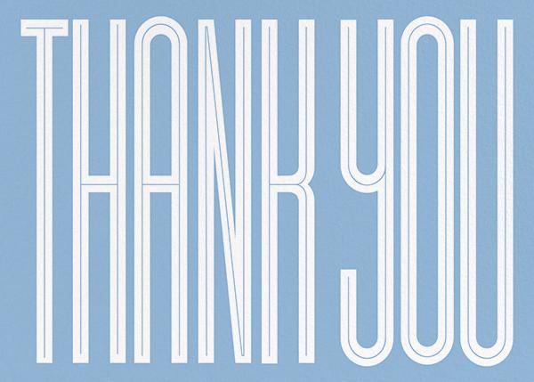 Massive Thanks - Spring Rain - Paperless Post - Thank you