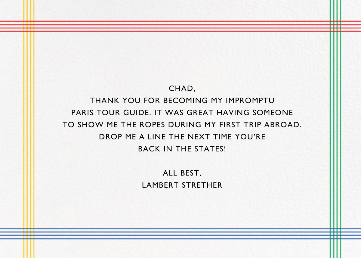 Memphis Thanks - Paperless Post - Thank you - card back