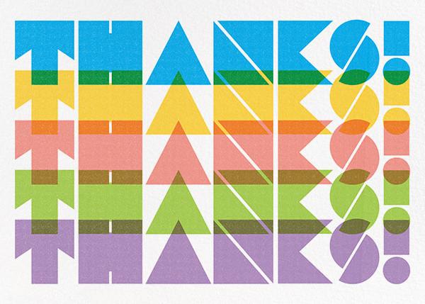 Spectrum of Gratitude - Paperless Post - Graduation thank you cards