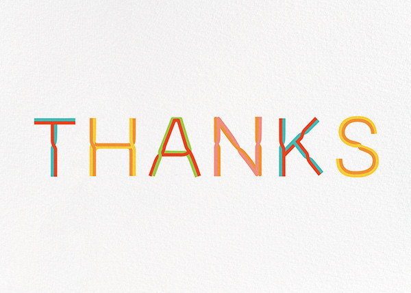 Thanks with a Twist - White - Paperless Post