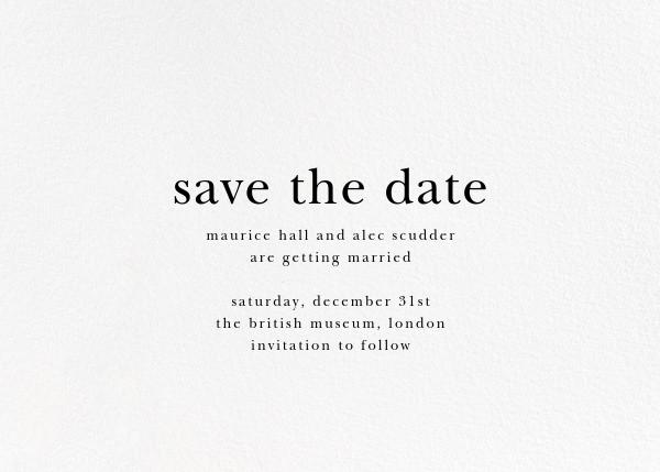 Floral Trellis II (Photo Save the Date) - Silver - Oscar de la Renta - Save the date - card back