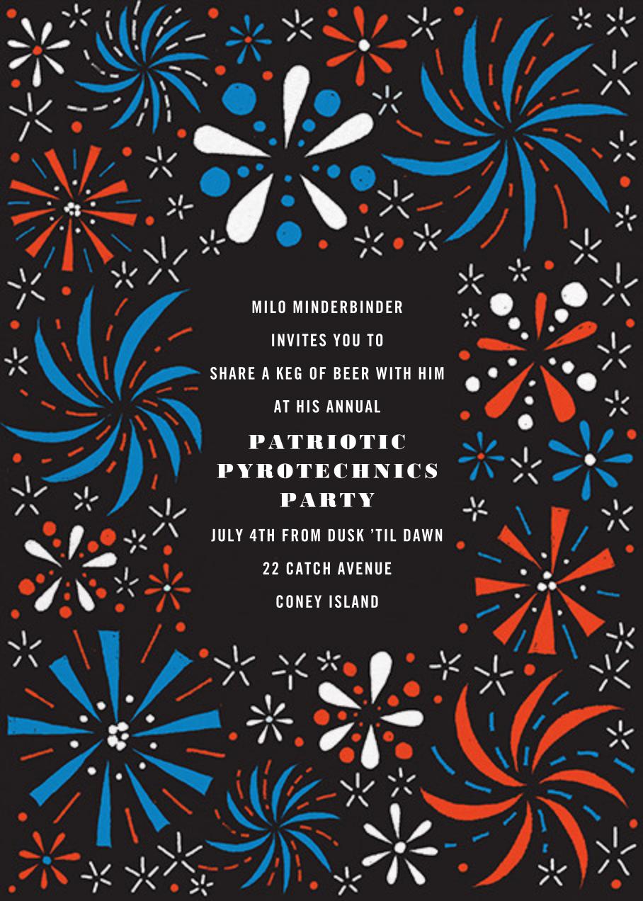 Firework Bouquet - Red/Blue - Paperless Post