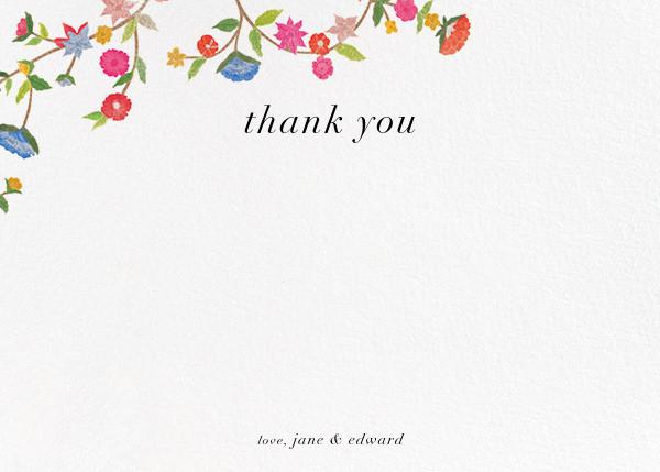 Stitched Floral II - Thank You - Oscar de la Renta - Wedding