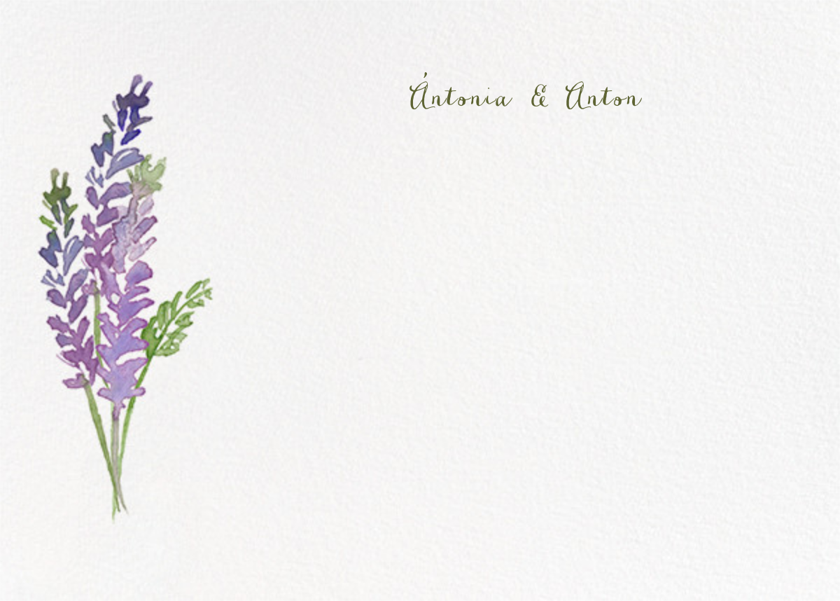 Mountain Flora (Stationery) - Lilac - Paperless Post - Wedding