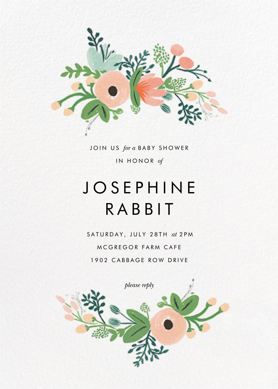 Wrapped in Wildflowers (Invitation) - Rifle Paper Co. - Baby shower
