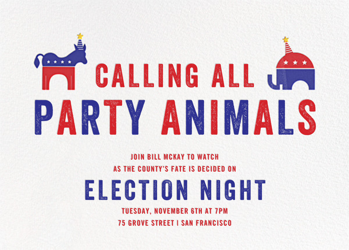 Political Animals - Paperless Post - Election night
