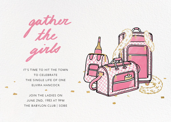Gather the Girls - Pink - Paperless Post - Bachelorette party