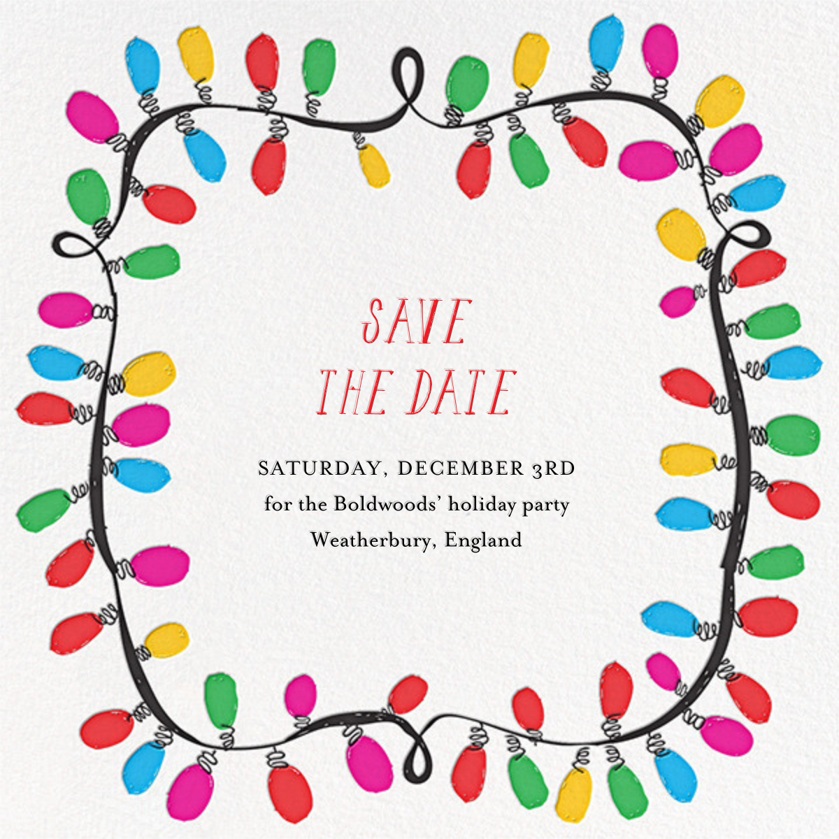 This Line is Tangled - Mr. Boddington's Studio - Save the date