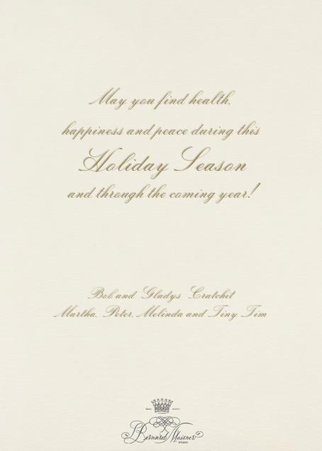 Tree of Life - Bernard Maisner - Holiday cards - card back