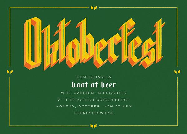 Gothtoberfest - Paperless Post - Oktoberfest