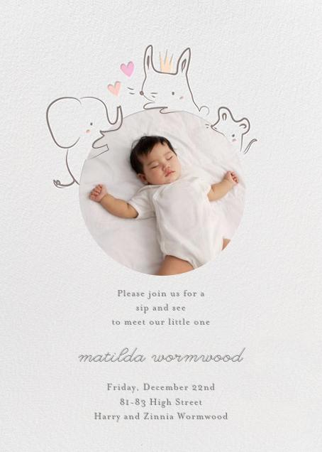 Sneak Peek - Little Cube - Woodland baby shower invitations