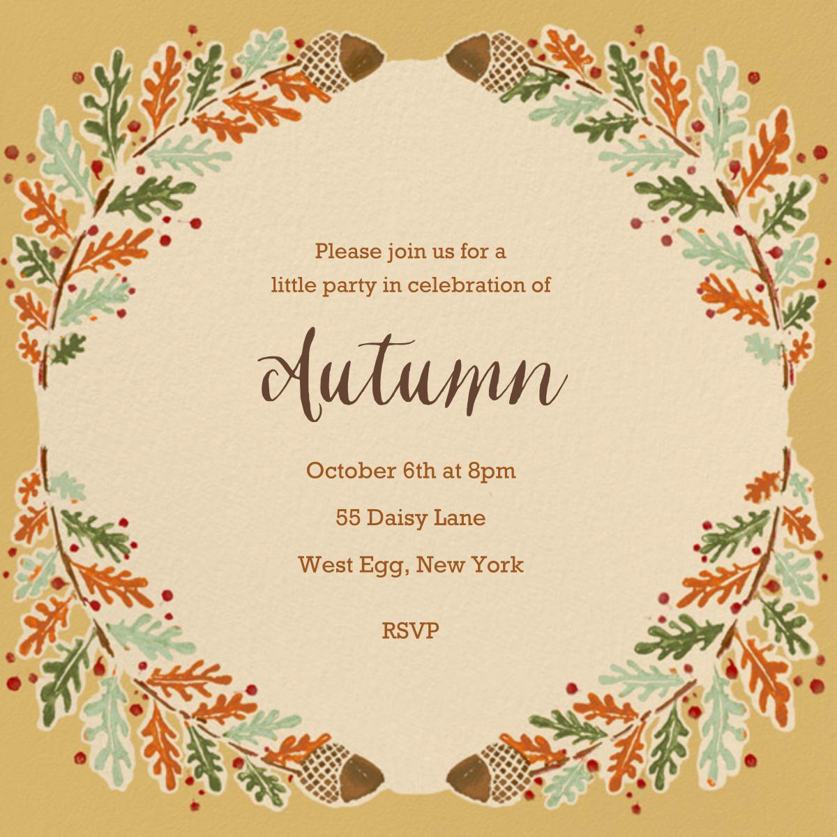 Watercolor Autumn Frame - Paperless Post - Autumn entertaining