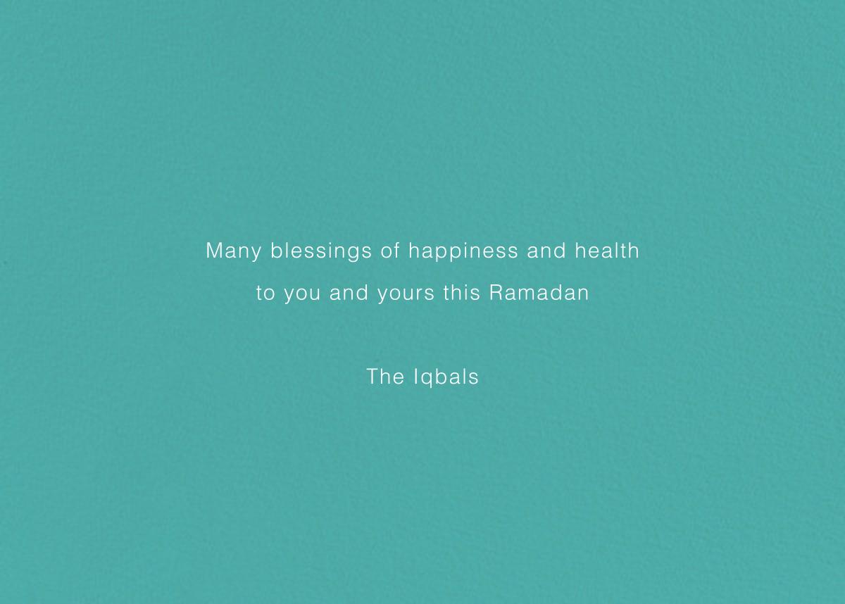 Ramadan Mubarak (Greeting) - Paperless Post - Ramadan and Eid - card back