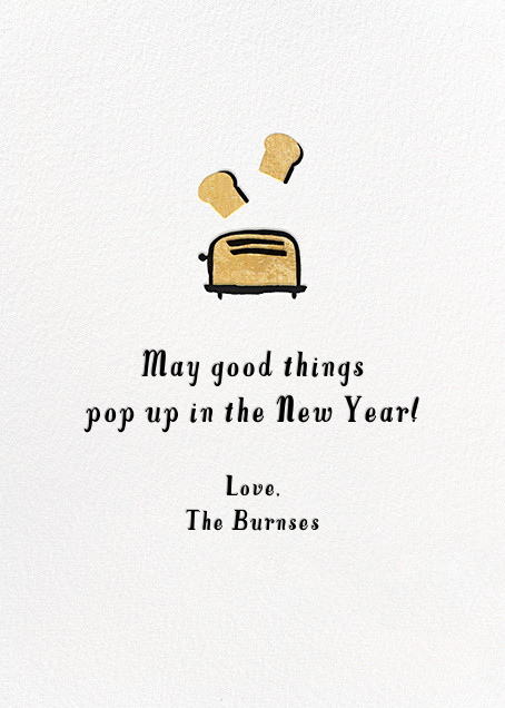 New Year's Toast (Greeting) - Hello!Lucky - New Year - card back
