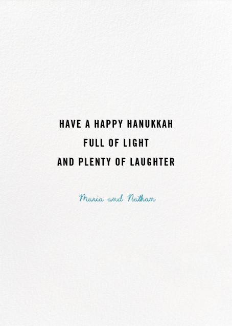 Family Hanukkah (Nicholas John Firth) - Red Cap Cards - Hanukkah - card back